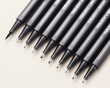 Black Fine-liner Sketching Pen Set Of 10