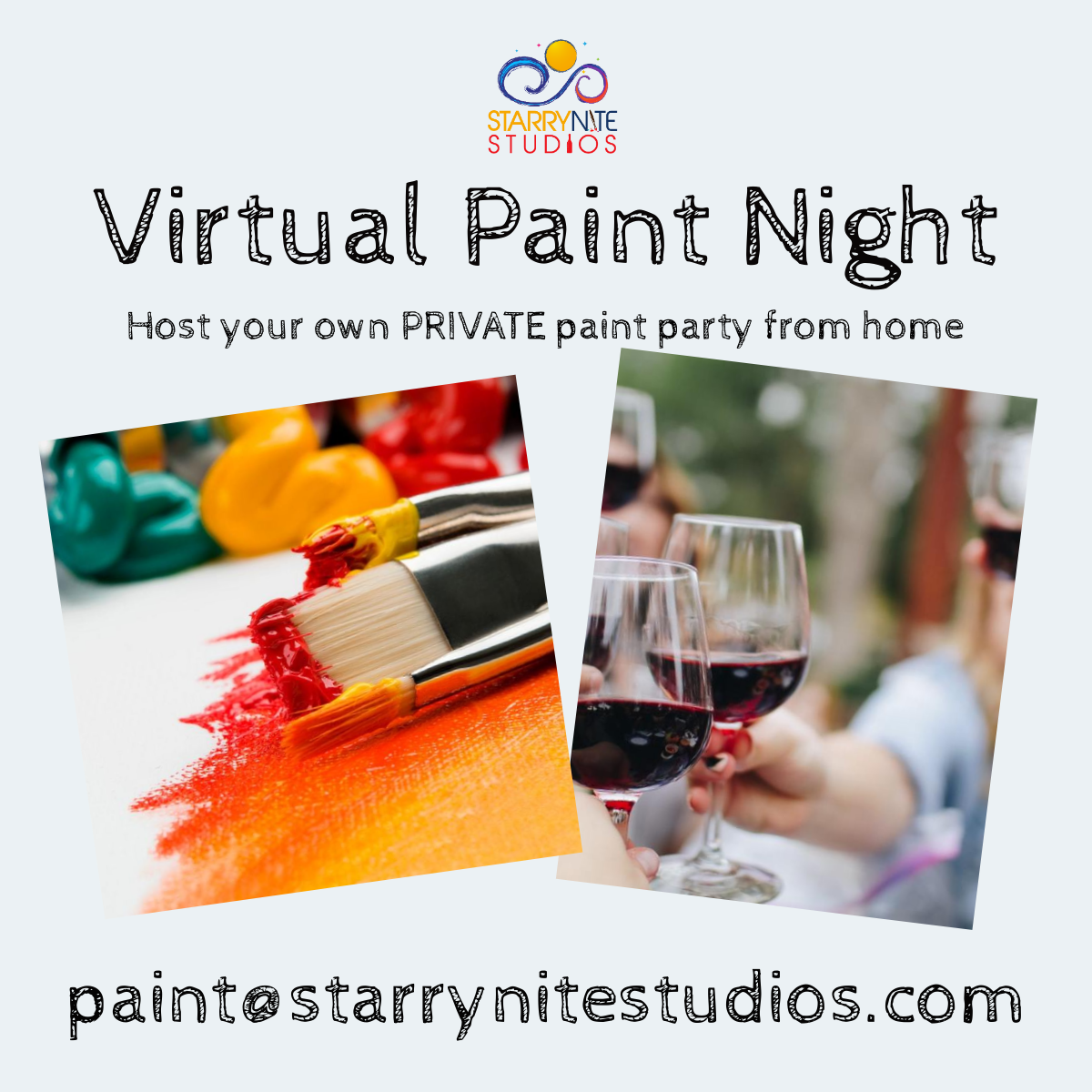 VIRTUAL Paint Party Instructional Videos $10