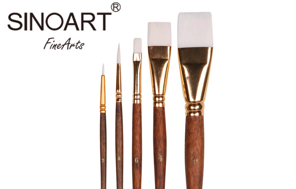 Wood Handle Brush Set (5 Pack)