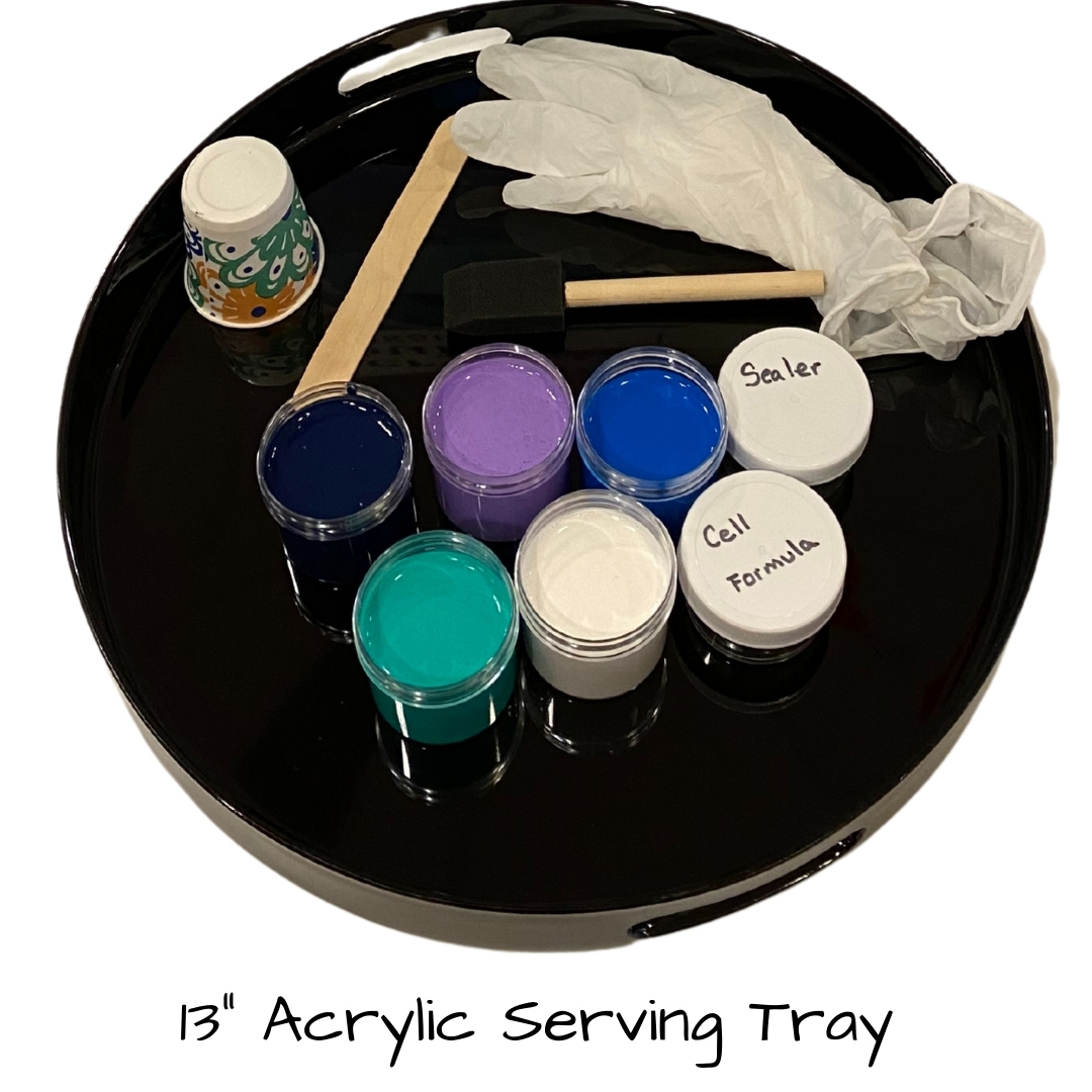 Acrylic Pour Serving Tray Kit