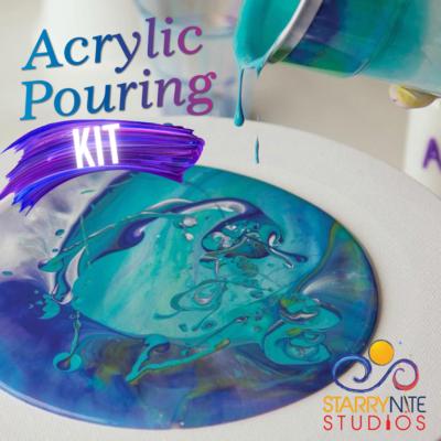 Acrylic Pour 12×12 Canvas Kit