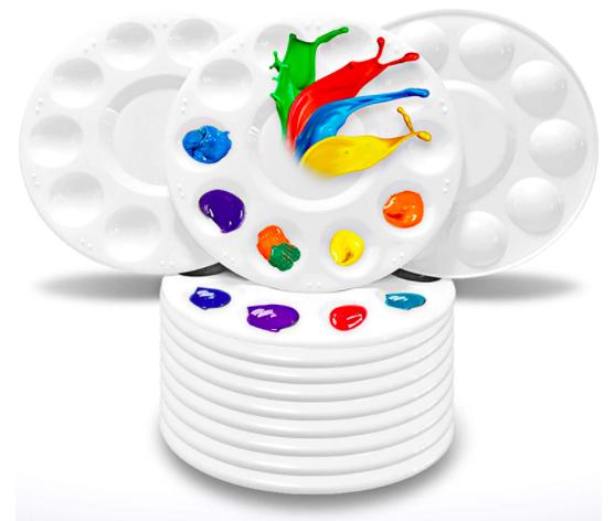 Plastic Artist Paint Palette 10 Pack